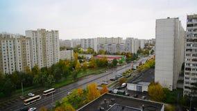 Moskwa Rosja, Październik, - 9 2017 Pejzażu miejskiego Zelenograd sypialny teren w spadku zbiory