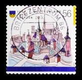 MOSKWA ROSJA, PAŹDZIERNIK, - 21, 2017: Znaczek drukujący w niemiec Karmiącej Zdjęcie Stock