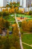 Moskwa Rosja, Październik, - 09 2017 Miasto krajobraz w jesieni w Zelenograd Obrazy Royalty Free
