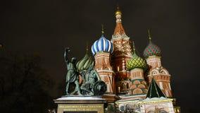Moskwa, Rosja, plac czerwony, widok St basilu ` s katedra zbiory wideo
