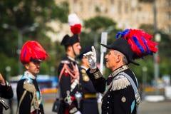 Moskwa, Rosja, Poklonnaya wzgórze, Sierpień 27, 2017 - Carabinier Fotografia Stock