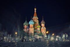 MOSKWA Rosja, Sierpień, - 06 2016: Świątobliwa basil katedra Zdjęcie Royalty Free