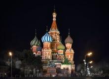 MOSKWA Rosja, Sierpień, - 06 2016: Świątobliwa basil katedra wewnątrz nigh Obrazy Stock