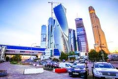 MOSKWA, ROSJA SIERPIEŃ 8, 2014 Budynki przy Nowym Obraz Stock
