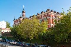 Moskwa Rosja, Sierpień, - 31 2017 Kościół w imieniu Kazan ikona matka bóg w boże narodzenie monasterze Zdjęcia Stock
