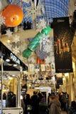 MOSKWA, ROSJA - 02 2016 STYCZEŃ: Bożenarodzeniowy dekoracja stan Dep Fotografia Stock