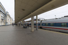MOSKWA, ROSJA -01 11 2015 Szybkościowy pociąg przy Zdjęcia Stock