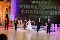 Moskwa, Rosja 3th 2017 Grudzień, tanczyć mężczyzna i wo, Fotografia Stock