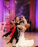 Moskwa, Rosja 3th 2017 Grudzień, tanczyć mężczyzna i wo, Zdjęcia Royalty Free