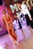 Moskwa, Rosja 3th 2017 Grudzień, tanczyć mężczyzna i wo, zdjęcie royalty free