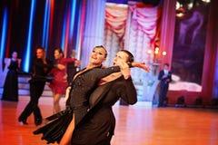 Moskwa, Rosja 3th 2017 Grudzień, tanczyć mężczyzna i wo, Fotografia Royalty Free