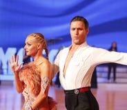 Moskwa, Rosja 3th 2017 Grudzień, tanczyć mężczyzna i wo, Obrazy Stock