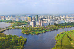 Moskwa, Rosja - widok z lotu ptaka Fotografia Stock