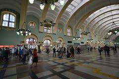 MOSKWA, ROSJA - 17 06 2015 Wnętrze Kazansky stacja kolejowa Budujący w 1862 Obraz Stock