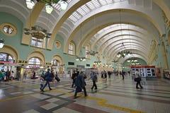 MOSKWA, ROSJA - 17 06 2015 Wnętrze Kazansky stacja kolejowa Budujący w 1862 Obraz Royalty Free