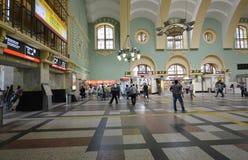 MOSKWA, ROSJA - 17 06 2015 Wnętrze Kazansky stacja kolejowa Budujący w 1862 Fotografia Royalty Free