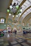 MOSKWA, ROSJA - 17 06 2015 Wnętrze Kazansky stacja kolejowa Budujący w 1862 Obrazy Royalty Free
