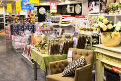 MOSKWA, ROSJA - 24 09 2015 Wnętrze sklepowy Hoff - jeden wielka Rosyjska meblarska sieć Zdjęcie Stock