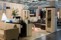 MOSKWA, ROSJA - 24 09 2015 Wnętrze sklepowy Hoff - jeden wielka Rosyjska meblarska sieć Obrazy Stock