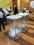 MOSKWA ROSJA, WRZESIEŃ, - 18, 2016: Dwa tajnego głosowania pudełka w el Obraz Royalty Free