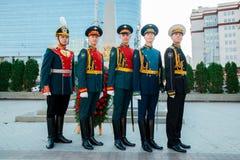 MOSKWA ROSJA, WRZESIEŃ, - 02, 2017: Dzień Rosyjski strażnik Zdjęcie Stock