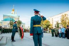 MOSKWA ROSJA, WRZESIEŃ, - 02, 2017: Dzień Rosyjski strażnik Obrazy Stock