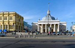Moskwa Rosja, Wrzesień, - 25 2017 Staci metru Komsomolskaya pierścionek Obrazy Stock