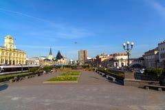 Moskwa Rosja, Wrzesień, - 25 2017 Ogólny widok Komsomolskaya kwadrat Zdjęcia Stock