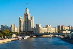 Moskwa Rosja, Wrzesień, - 23 2017 Stalins dom na Kotelnicheskaya bulwarze Obraz Royalty Free