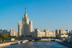 Moskwa Rosja, Wrzesień, - 23 2017 Stalins dom na Kotelnicheskaya bulwarze Zdjęcia Royalty Free