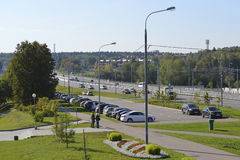 MOSKWA ROSJA, Wrzesień, - 16 2015 Ulica - Centralny Prospekt w Zelenograd Obraz Royalty Free