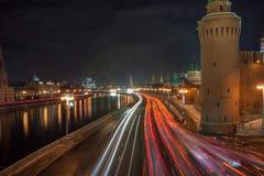 Moskwa ruch drogowy Fotografia Stock