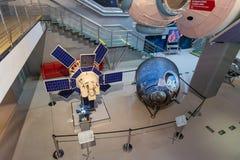 MOSKWA, RUSSIA-APR10, 2018: Satelitarni modułów szczegóły na pokazie Zdjęcie Stock