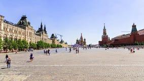 MOSKWA, RUSSIA-JUNE 5 Plac Czerwony - serce i główny plac Fotografia Stock