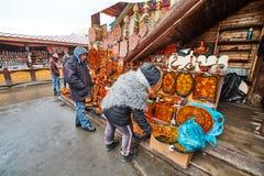Moskwa - 22 04 2017: Rynek przy Izmailovsky Kremlin, Moskwa Fotografia Stock
