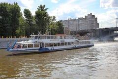 Moskwa rzeczna łódź Rosja Zdjęcie Stock