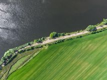 Moskwa rzeka, przegląda z góry fotografia royalty free