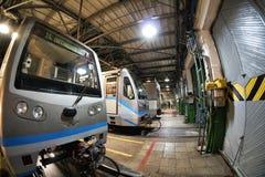 Moskwa ` s metro w ` Izmailovo ` zajezdni Czerwiec 09, 2017 moscow Rosja Zdjęcia Stock