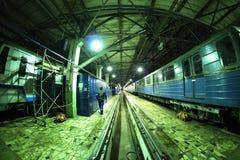 Moskwa ` s metro w ` Izmailovo ` zajezdni Czerwiec 09, 2017 moscow Rosja Obrazy Stock