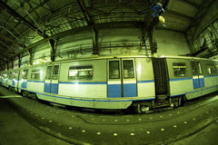 Moskwa ` s metro w ` Izmailovo ` zajezdni Czerwiec 09, 2017 moscow Rosja Obraz Stock