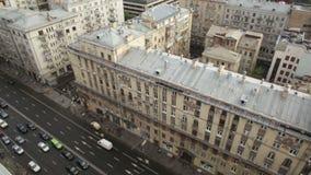 Moskwa ` s Tverskaya ulica zdjęcie wideo
