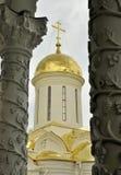 Moskwa Sergiev Posada katedry kopuła Obrazy Stock