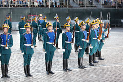 Żołnierze gwardia honorowa Prezydencki pułk Obraz Stock