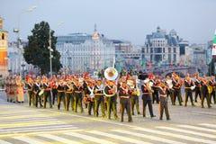 Orkiestra siły zbrojne Jordanowski marsz Zdjęcie Royalty Free
