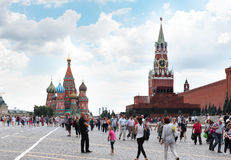 MOSKWA - Sierpień 04, 2016: Katedra St basil Obrazy Stock