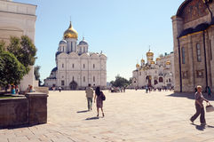 Moskwa Sobornaya Kremlowski kwadrat Obraz Royalty Free