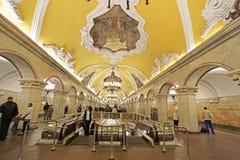 Moskwa stacja metru Komsomolskaya Obrazy Royalty Free