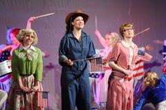 Rostova, Makeeva, Vorozhtsova śpiewa przy Muzykalnymi czarownicami Fotografia Royalty Free