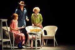 Rostova, Makeeva, Vorozhtsova sztuka przy Muzykalnymi czarownicami Eastwick Zdjęcie Stock