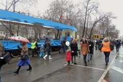 Moskwa Tramwajowy wakacje 2016 Obraz Stock